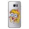 """Чехол для Samsung Galaxy S7 Edge силиконовый """"Без ума от цветов"""" - любовь, девушка, цветы, сердца, блондинка"""