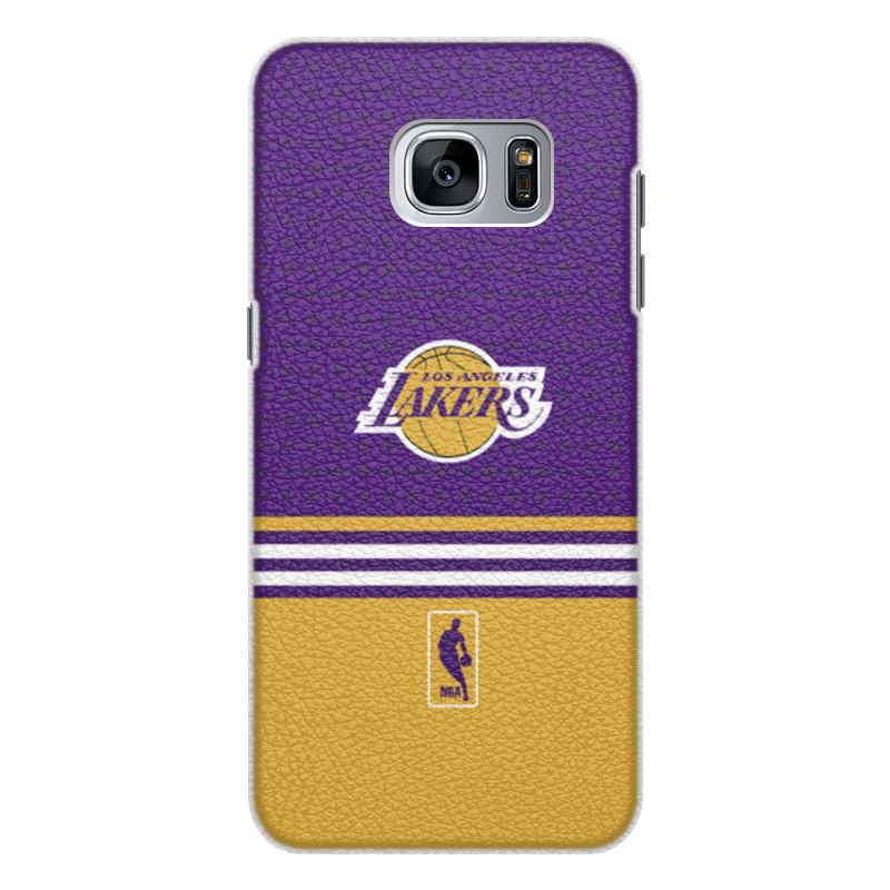 Чехол для Samsung Galaxy S7 кожаный Printio Lakers case pro баскетбольную форму lakers