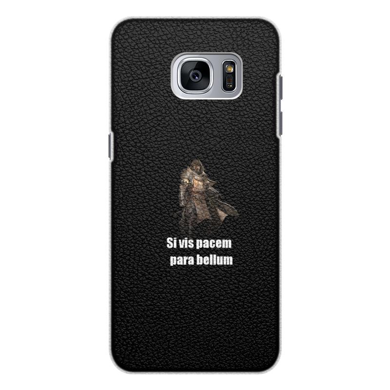 Чехол для Samsung Galaxy S7 кожаный Printio Хочешь мира - готовься к войне чехол для samsung galaxy note 2 printio хочешь мира готовься к войне