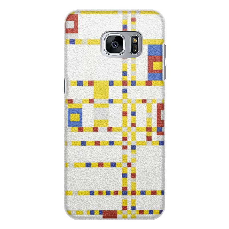 Чехол для Samsung Galaxy S7 кожаный Printio Бродвей буги-вуги (питер мондриан) чехол для samsung galaxy s5 printio бродвей буги вуги питер мондриан