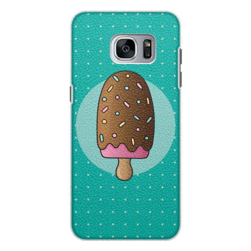 Чехол для Samsung Galaxy S7 кожаный Printio Мороженое гарнитуры душевые argo набор для биде лейка шланг кронштейн argo dina блистер