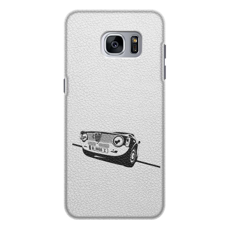 Чехол для Samsung Galaxy S7 кожаный Printio Retro alfa romeo racing наклейки tony 2 74 alfa romeo mito 147 156 159 166 giulietta gt