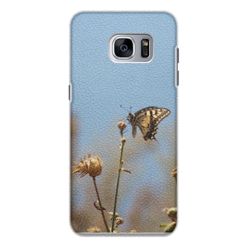 Чехол для Samsung Galaxy S7 кожаный Printio Бабочка махаон издательство махаон драконы