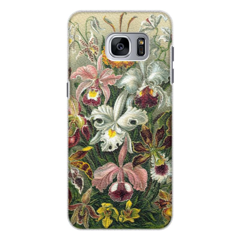 Чехол для Samsung Galaxy S7 кожаный Printio Орхидеи (orchideae, ernst haeckel) самые дешевые орхидеи в москве