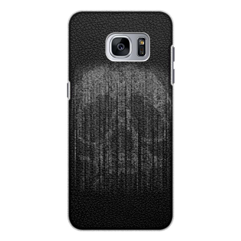 Чехол для Samsung Galaxy S7 кожаный Printio Голограмма череп чехол для samsung galaxy s5 printio череп художник