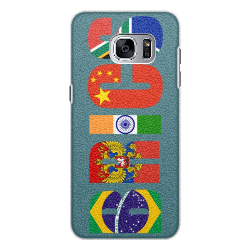 Чехол для Samsung Galaxy S7 кожаный Printio Brics - брикс k52n в южно сахалинске