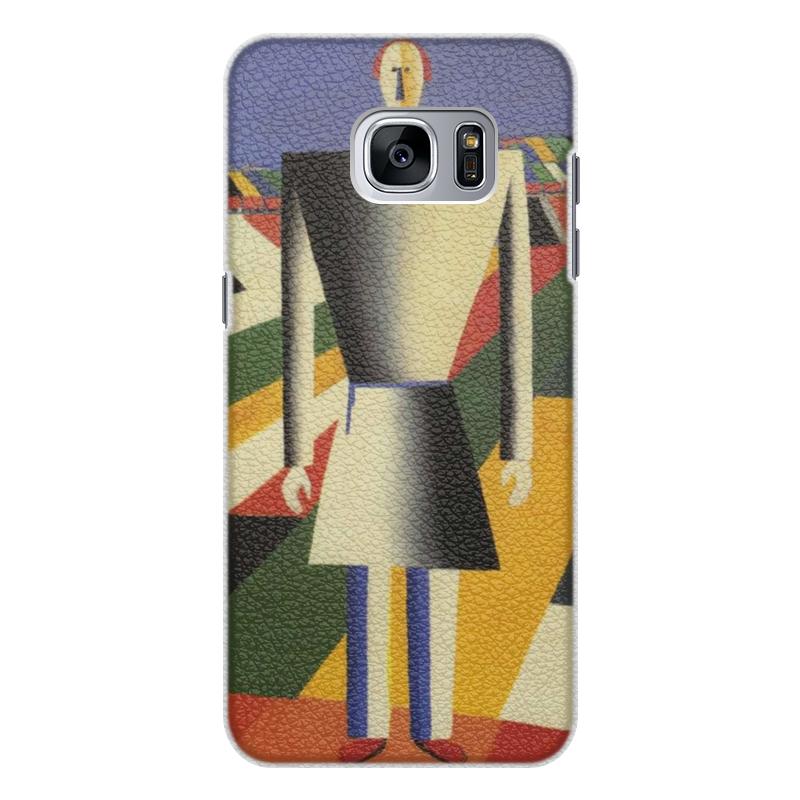 Чехол для Samsung Galaxy S7 кожаный Printio Крестьянин в поле (казимир малевич) чехол для samsung galaxy s5 printio торс фигура с розовым лицом малевич
