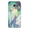 """Чехол для Samsung Galaxy S7 кожаный """"Miku Hatsune Sush"""" - аниме, hatsune, мику, бесконечное лето, miku"""