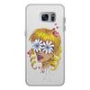 """Чехол для Samsung Galaxy S7 кожаный """"Без ума от цветов"""" - любовь, девушка, цветы, сердца, блондинка"""
