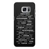 """Чехол для Samsung Galaxy S7 кожаный """"Манта для настоящих мужчин (черный вариант)"""" - праздник, мужчина, подарок, пожелания, мантра"""