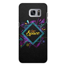 """Чехол для Samsung Galaxy S7 кожаный """"Love Space"""" - звезды, космос, вселенная"""