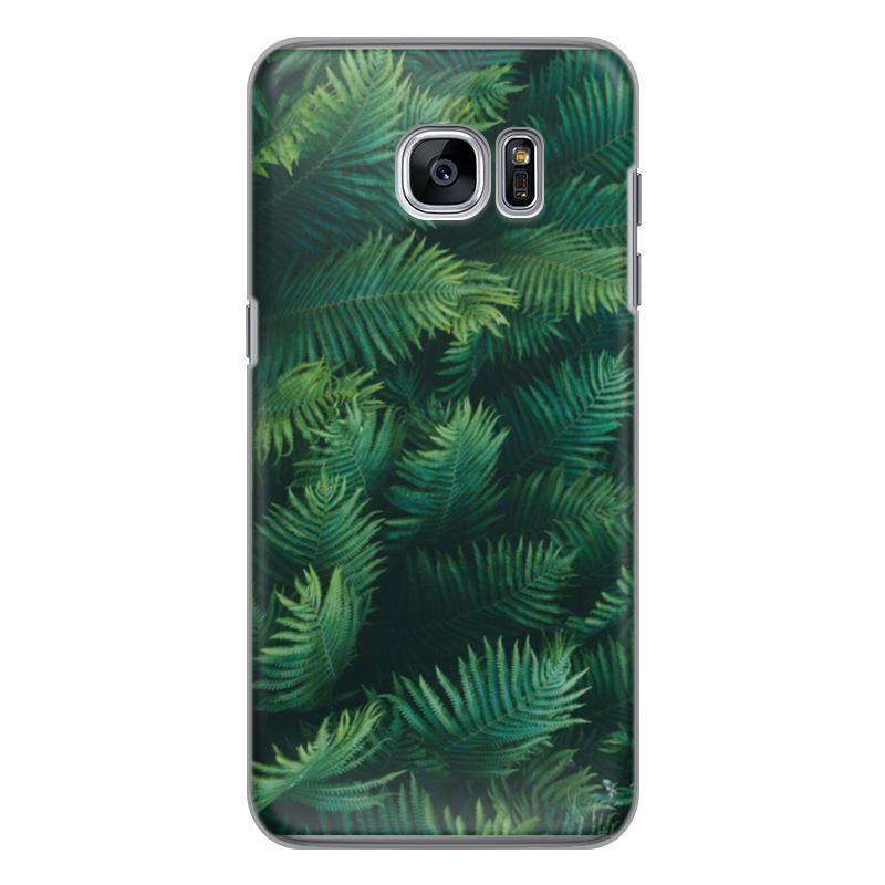 Чехол для Samsung Galaxy S7 силиконовый Printio Листья папоротника