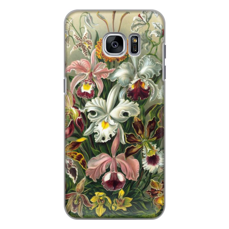 Чехол для Samsung Galaxy S7 силиконовый Printio Орхидеи (orchideae, ernst haeckel) самые дешевые орхидеи в москве