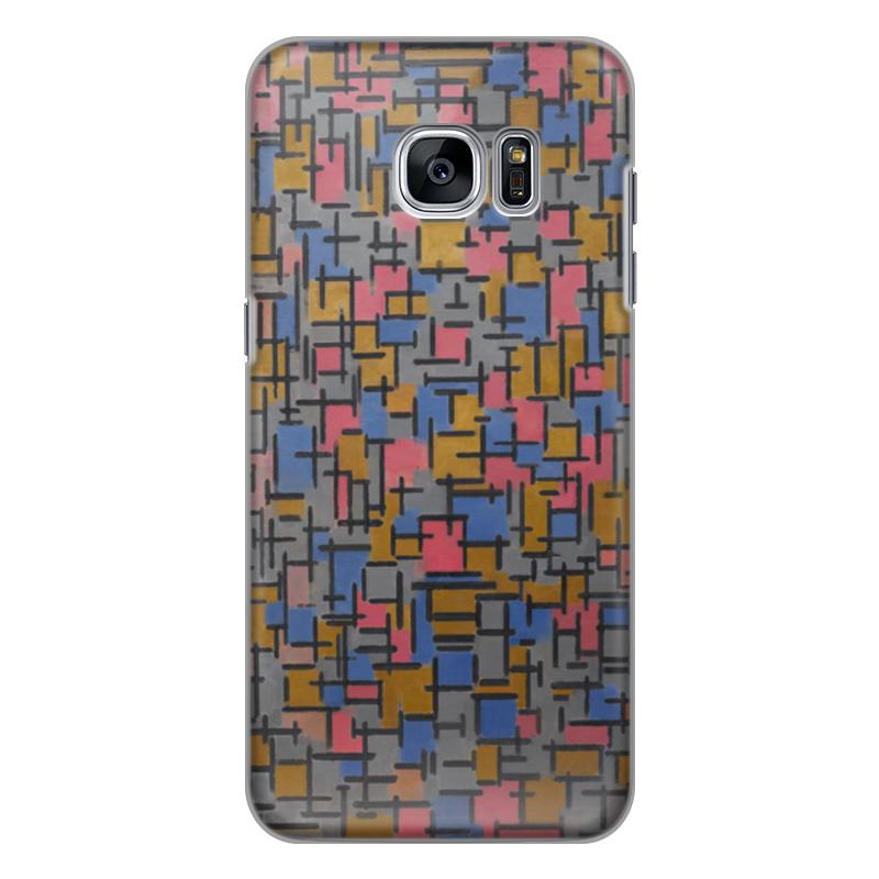 Чехол для Samsung Galaxy S7 силиконовый Printio Композиция (питер мондриан) чехол для карточек пит мондриан дк2017 110