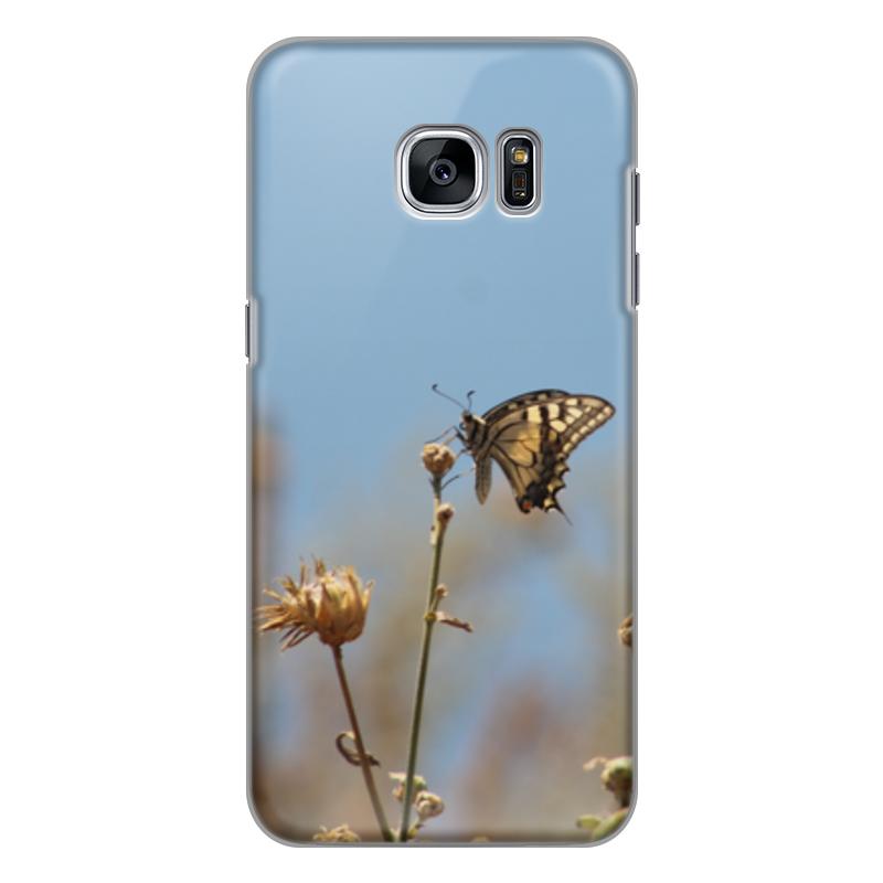 Чехол для Samsung Galaxy S7 силиконовый Printio Бабочка махаон издательство махаон драконы