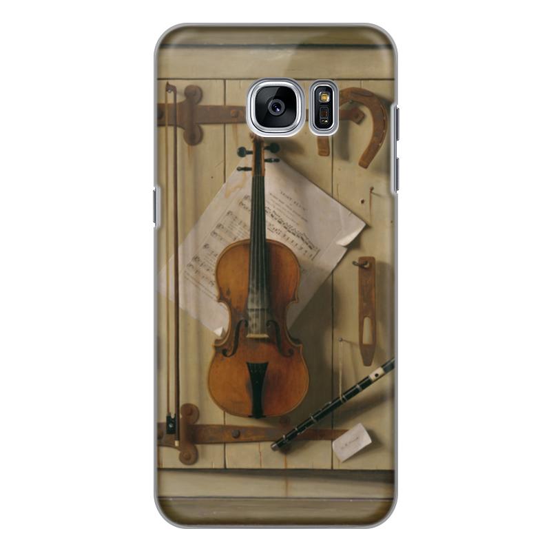 Чехол для Samsung Galaxy S7 силиконовый Printio Натюрморт со скрипкой (уильям харнетт) чехол для samsung galaxy s5 printio натюрморт со скрипкой уильям харнетт