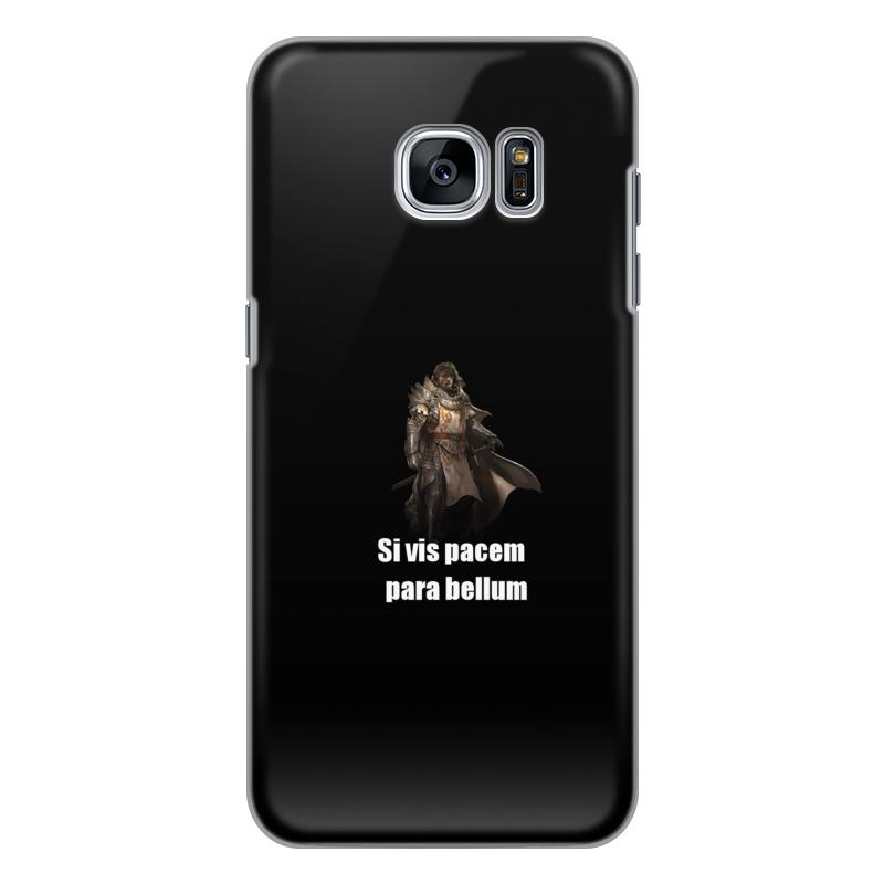 Чехол для Samsung Galaxy S7 силиконовый Printio Хочешь мира - готовься к войне чехол для samsung galaxy note 2 printio хочешь мира готовься к войне