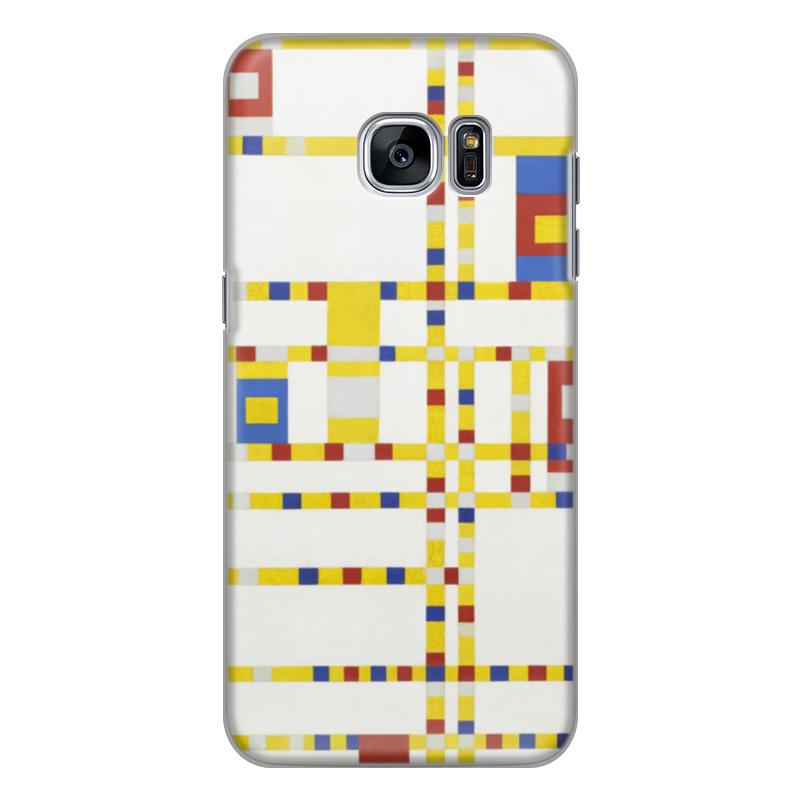 Чехол для Samsung Galaxy S7 силиконовый Printio Бродвей буги-вуги (питер мондриан) чехол для карточек пит мондриан дк2017 110