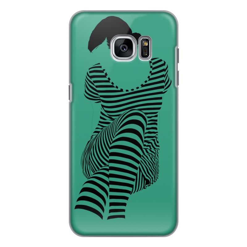 Чехол для Samsung Galaxy S7 силиконовый Printio раздвоение личности