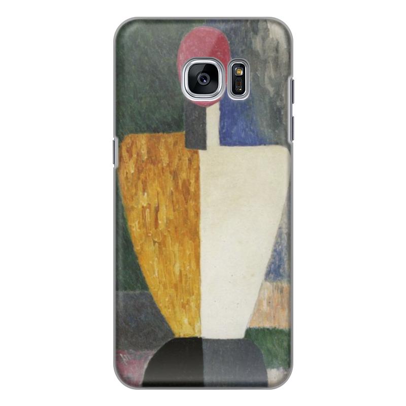 Чехол для Samsung Galaxy S7 силиконовый Printio Торс (фигура с розовым лицом) (малевич) чехол для samsung galaxy s5 printio торс фигура с розовым лицом малевич