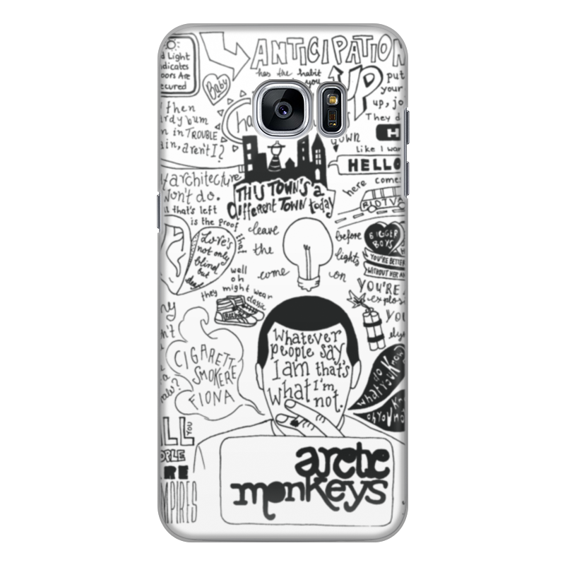 Чехол для Samsung Galaxy S7 силиконовый Printio Arctic monkeys