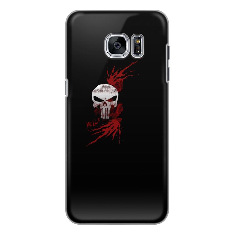Чехол для Samsung Galaxy S7 силиконовый Printio Каратель. punisher
