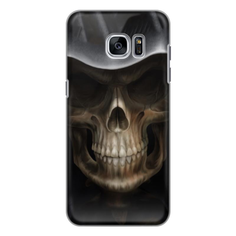 Чехол для Samsung Galaxy S7 силиконовый Printio Череп в капюшоне чехол для samsung galaxy s5 printio череп художник