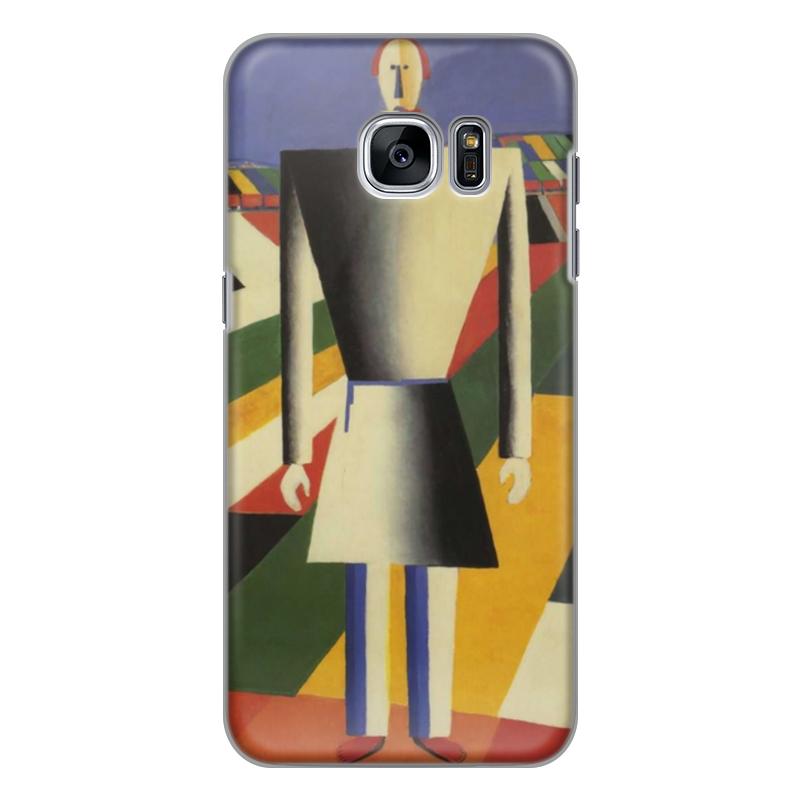 Чехол для Samsung Galaxy S7 силиконовый Printio Крестьянин в поле (казимир малевич) чехол для samsung galaxy s5 printio торс фигура с розовым лицом малевич