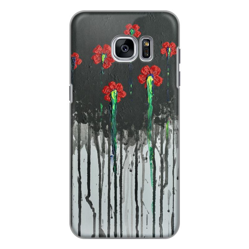 Чехол для Samsung Galaxy S7 силиконовый Printio Красные маки