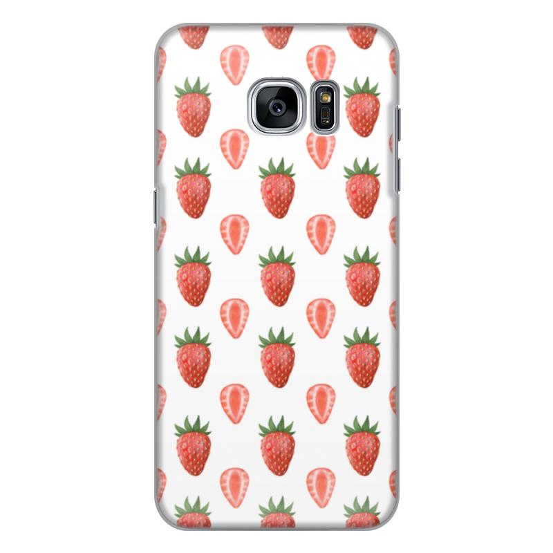 Чехол для Samsung Galaxy S7 силиконовый Printio Акварельная клубника