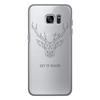 """Чехол для Samsung Galaxy S7 силиконовый """"Dear Deer"""" - рисунок, дизайн, олень, минимализм, рога"""