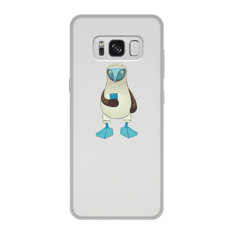 Чехол для Samsung Galaxy S8, объёмная печать Printio Blue-footed booby liberty booby