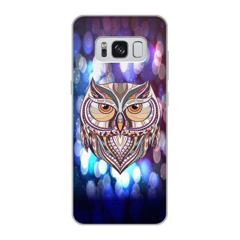 Чехол для Samsung Galaxy S8, объёмная печать Printio Сова в красках