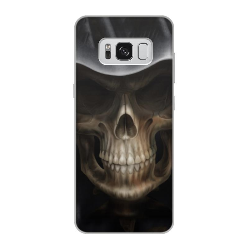Чехол для Samsung Galaxy S8, объёмная печать Printio Череп в капюшоне чехол для samsung galaxy s5 printio череп художник