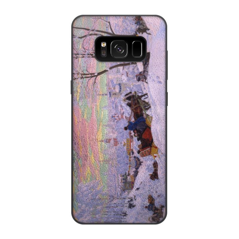 Чехол для Samsung Galaxy S8, объёмная печать Printio Масленица (кустодиев)
