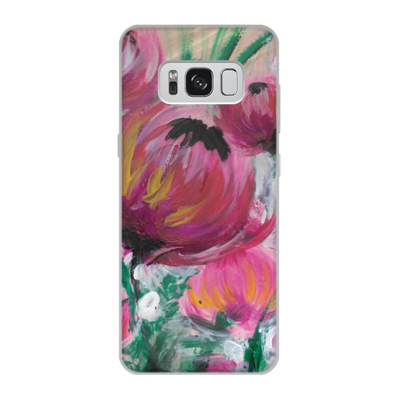 Чехол для Samsung Galaxy S8, объёмная печать Printio Полевые цветы чехол для ноутбука 12 printio чехол чехол чехол полевые цветы