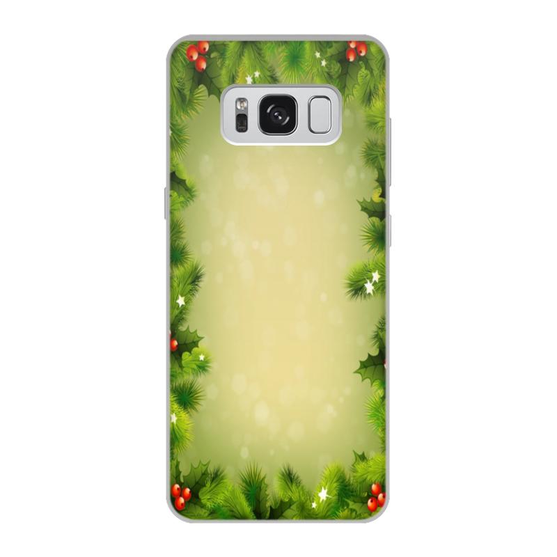Чехол для Samsung Galaxy S8, объёмная печать Printio С новым годом! цена