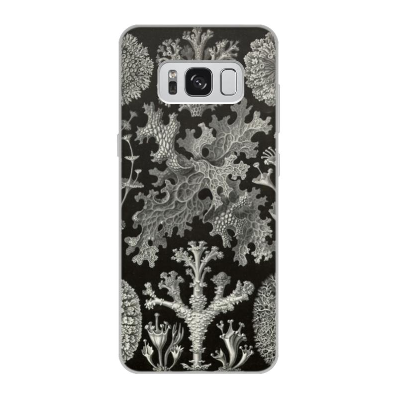 Чехол для Samsung Galaxy S8, объёмная печать Printio Лишайники (lichenes, ernst haeckel) чехол для samsung galaxy s7 edge силиконовый printio лишайники lichenes ernst haeckel