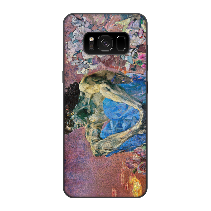 Чехол для Samsung Galaxy S8, объёмная печать Printio Демон сидящий (михаил врубель) обложка для паспорта printio демон сидящий