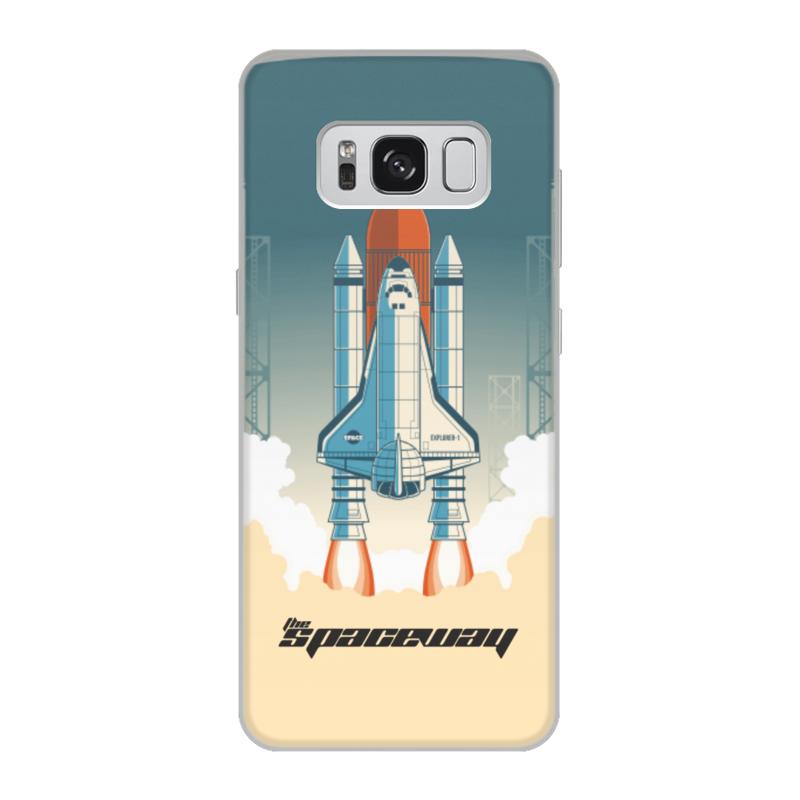 лучшая цена Чехол для Samsung Galaxy S8, объёмная печать Printio Покорение космоса