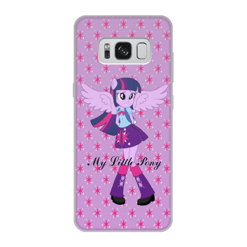 Чехол для Samsung Galaxy S8, объёмная печать Printio Искорка (девочки эквестрии) чехол для iphone 7 объёмная печать printio искорка девочки эквестрии
