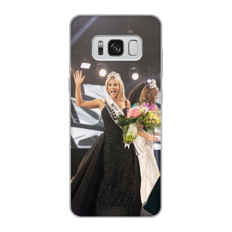 Чехол для Samsung Galaxy S8, объёмная печать Printio Мисс сша 2018 аксессуар чехол samsung galaxy s8 celly air case black air690bkcp
