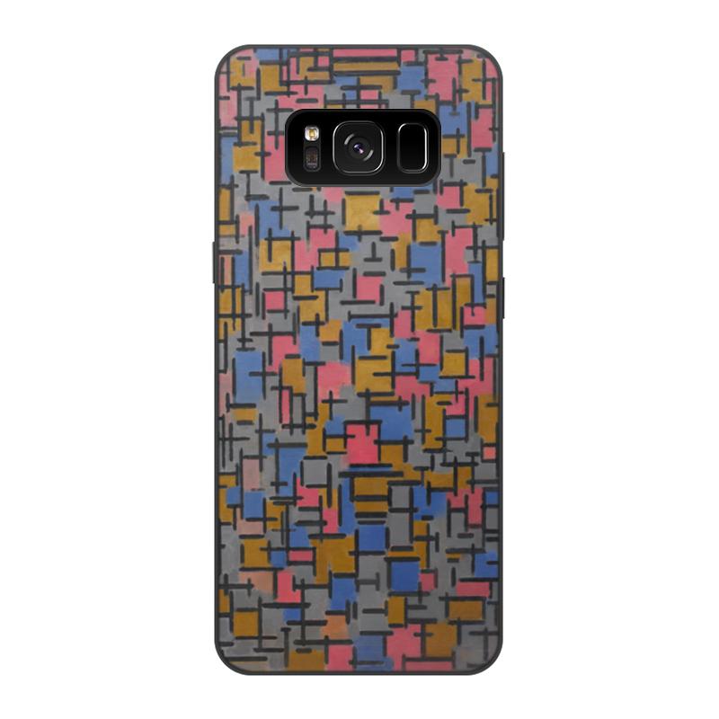 Чехол для Samsung Galaxy S8, объёмная печать Printio Композиция (питер мондриан) чехол для samsung galaxy s5 printio бродвей буги вуги питер мондриан