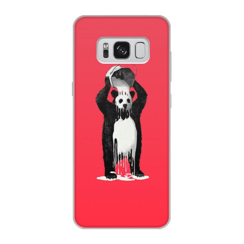 лучшая цена Чехол для Samsung Galaxy S8, объёмная печать Printio Панда в краске
