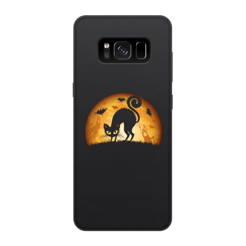 Чехол для Samsung Galaxy S8, объёмная печать Printio Черная кошка