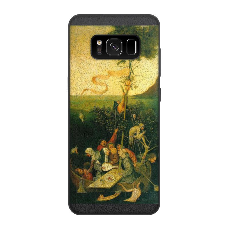 Чехол для Samsung Galaxy S8, объёмная печать Printio Корабль дураков (картина босха) чехол для iphone 8 объёмная печать printio корабль дураков картина босха