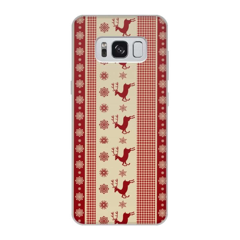 Чехол для Samsung Galaxy S8, объёмная печать Printio Олени чехлы для телефонов with love moscow силиконовый дизайнерский чехол для samsung galaxy s8 this life