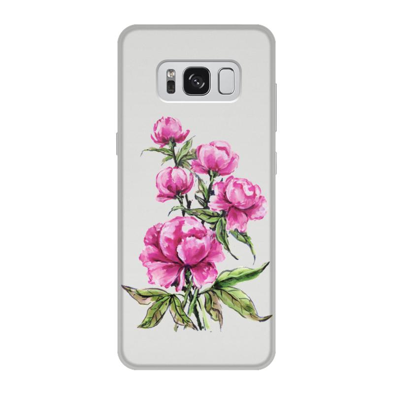 Чехол для Samsung Galaxy S8, объёмная печать Printio Нежные пионы цена
