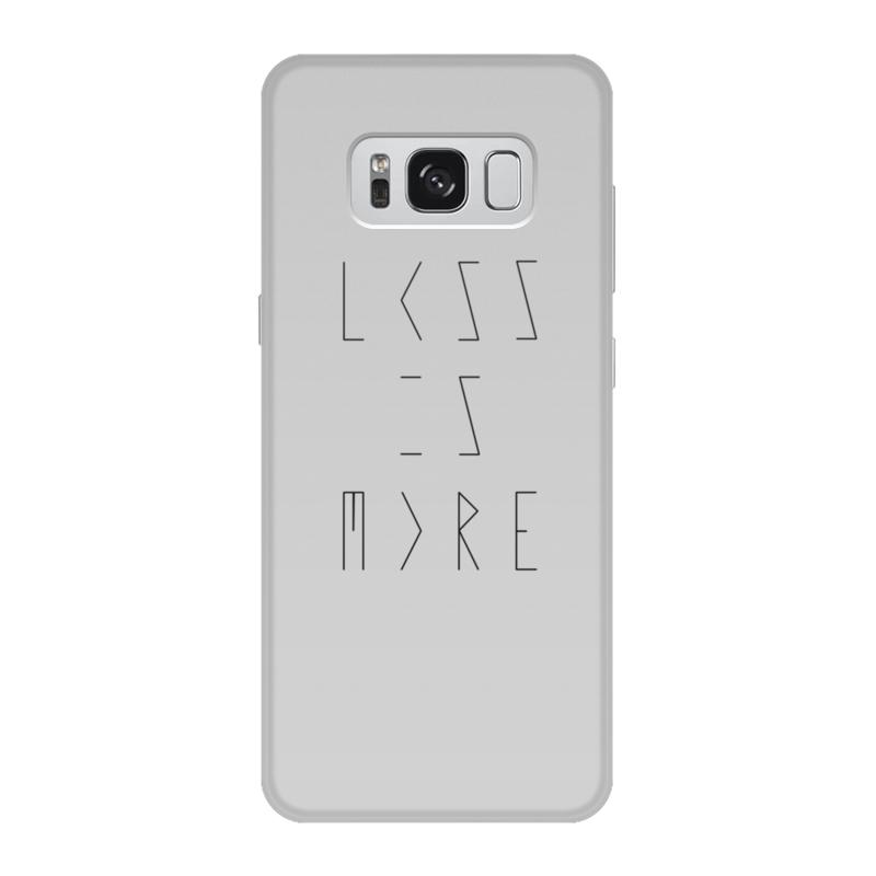 Чехол для Samsung Galaxy S8, объёмная печать Printio Less is more do less get more