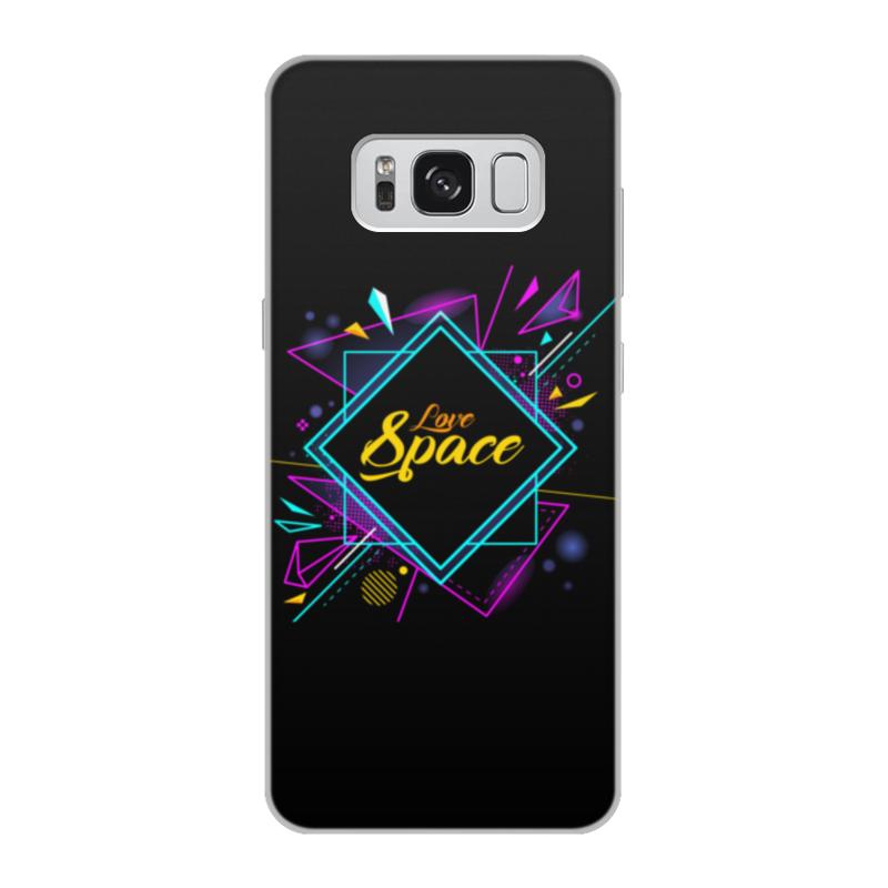 Чехол для Samsung Galaxy S8, объёмная печать Printio Love space чехлы для телефонов with love moscow силиконовый дизайнерский чехол для samsung galaxy s8 this life